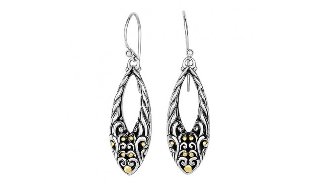 18kt Yellow Gold And Sterling Silver With Oxidized Finish Shiny