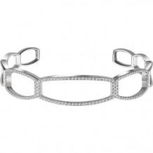 Stuller 14k White Gold Diamond Cuff Bracelet