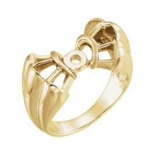 Stuller 14k Yellow Gold Engagement Ring Base