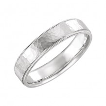 Stuller 14k White Gold 5mm Comfort Fit Wedding Band