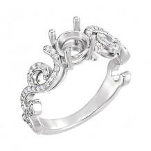 Stuller Sterling Silver Diamond Semi-mounting Engagement Ring