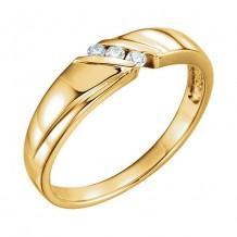 Stuller 14k Yellow .08 CTW Diamond 3-Stone Men's Wedding Band