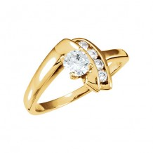 Stuller 14k Yellow Gold Semi-Mount Engagement Ring