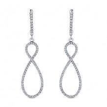 14k White Gold Gabriel & Co. Diamond Drop Earrings
