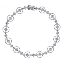 14k White Gold Gabriel & Co. Diamond Bangle Bracelet