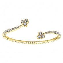 14k Yellow Gold Gabriel & Co. Diamond Bangle Bracelet