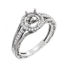 Stuller 14k White Round Diamond Semi-mounting Engagement Ring
