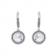 14k White Gold Gabriel & Co. White Crystal Diamond Drop Earrings
