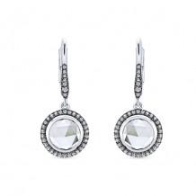 14k White Gold Gabriel & Co. White Crystal Diamond Drop Earrings