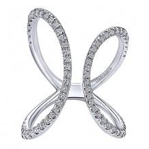 14k White Gold Gabriel & Co. Diamond Fashion Ring