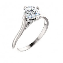 Stuller 14k White Gold 0.06ct Diamond Engagement Ring