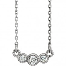 Stuller 14k White Gold Diamond Bezel Set Necklace