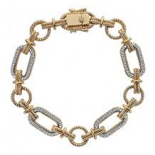 14k Yellow And White Gold Gabriel & Co. Diamond Tennis Bracelet