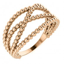 14k Rose Gold Stuller Beaded Fashion Ring