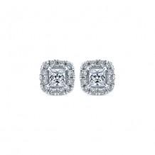 14k White Gold Gabriel & Co. Diamond Stud Earrings