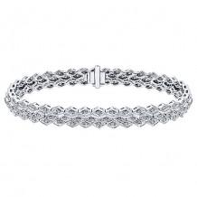 14k White Gold Gabriel & Co. Diamond Tennis Bracelet