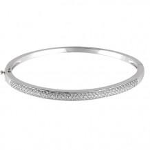 Stuller 14k White Gold Polished Diamond Bracelet