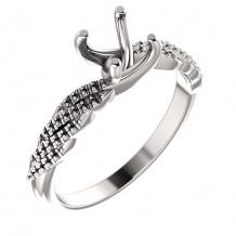 Stuller 14k White Gold Round Engagement Ring