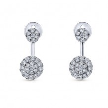14k White Gold Gabriel & Co. Peek A Boo Diamond Earrings