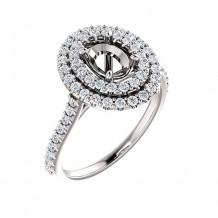 Stuller 14k White Gold 5/8ct Diamond Semi-mount Engagement Ring