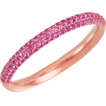 14k Rose Gold Stuller Pink Sapphire Stackable Ring