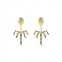 14k Yellow Gold Gabriel & Co. Diamond Peek A Boo Earrings