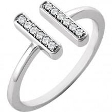Stuller 14k White Gold Diamond Vertical Bar Ring