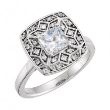 Stuller 14k White Gold Square Diamond Semi-mounting Engagement Ring