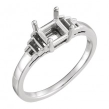 Stuller 14k White Gold 1/5ct Diamond Engagement Ring