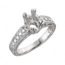 Stuller 14k White Gold Diamond Semi-mounting Engagement Ring