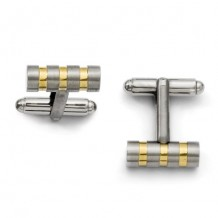 Chisel Titanium Gold-Plated Cufflinks