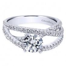 14k White Gold Gabriel & Co. 0.57ct Diamond Engagement Ring