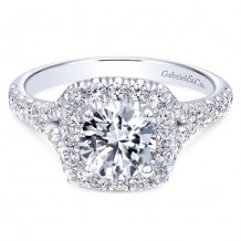 14k White Gold Gabriel & Co. 0.82ct Diamond Engagement Ring
