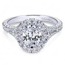 14k White Gold Gabriel & Co. 0.71ct Diamond Engagement Ring