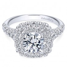 14k White Gold Gabriel & Co. 0.83ct Diamond Engagement Ring