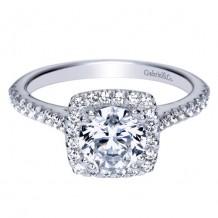14k White Gold Gabriel & Co. 0.32ct Diamond Engagement Ring