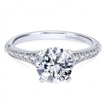 14k White Gold Gabriel & Co. 0.20ct Diamond Engagement Ring