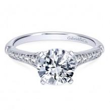 14k White Gold Gabriel & Co. 0.20ct Diamond Engagement Ring