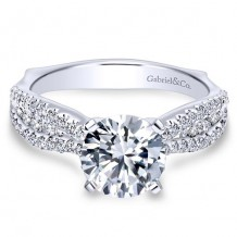 14k White Gold Gabriel & Co. 0.53ct Diamond Engagement Ring
