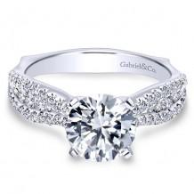 14k White Gold Gabriel & Co. 0.53ct Diamond Engagement Ring