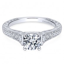 14k White Gold Gabriel & Co. 0.28ct Diamond Engagement Ring