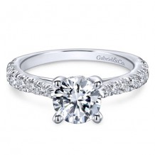 14k White Gold Gabriel & Co. 0.56ct Diamond Engagement Ring