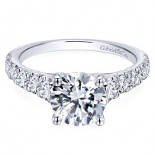 14k White Gold Gabriel & Co. 0.81ct Diamond Engagement Ring