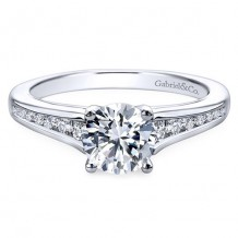 14k White Gold Gabriel & Co. 0.29ct Diamond Engagement Ring