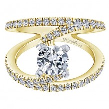 14K White and Yellow Gold 0.63ct Diamond Engagement Ring