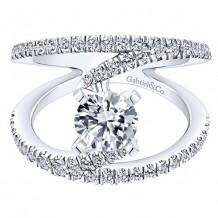 14k White Gold Gabriel & Co. 0.63ct Diamond Engagement Ring
