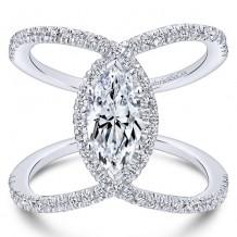 14k White Gold Gabriel & Co. 0.50ct Diamond Engagement Ring
