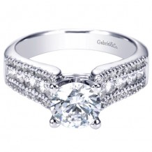 14k White Gold Gabriel & Co. 0.52ct Diamond Engagement Ring