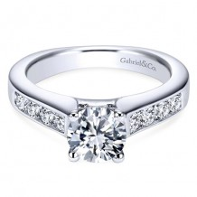 14k White Gold Gabriel & Co. 0.51ct Diamond Engagement Ring