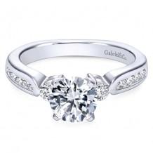 14k White Gold Gabriel & Co. 0.33ct Diamond Engagement Ring